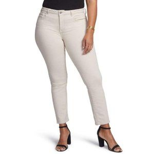 NYDJ Curves 360 Side Slit Feather womens jeans 16S